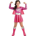 ハロウィンSPECIAL Girls Pink Supergirl Costume - Superman