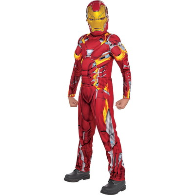 ハロウィンSPECIAL Boys Iron Man Muscle Costume - Captain America: Civil War
