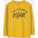 Cotton On Kids Tom Loose Fit Tシャツ / gold glow/ the future is equal
