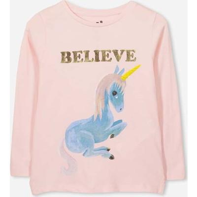 Penelope Long Sleeve Tシャツ / pearl pink/believe/set in