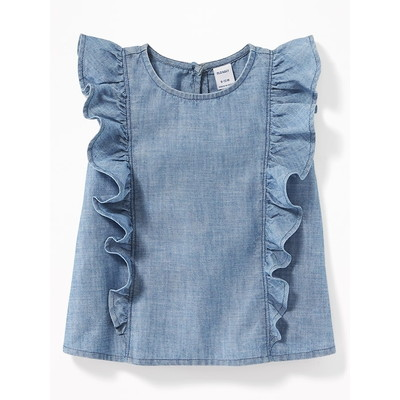 OLD NAVY / オールドネイビー Ruffled Chambray Sleeveless Top for Baby