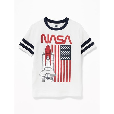 OLD NAVY / オールドネイビー NASA  Americana Sleeve StripeTシャツ