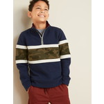 OLD NAVY / オールドネイビー Color Blocked 1/4 Zip Mock Neck プルオーバー