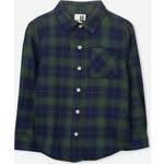 Cotton On Kids Noah Long Sleeve シャツ / green/navy check