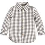 burts bees baby/バーツビーズベイビー Gingham Button Front Organic Babyシャツ
