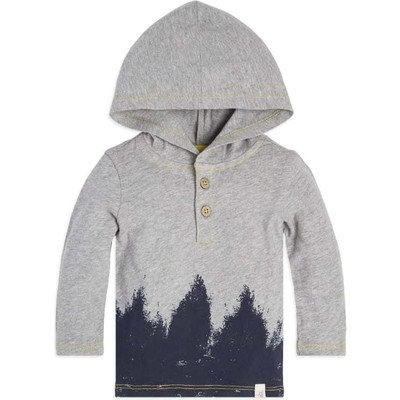Forest Shadows Hooded Organic Babyトップス