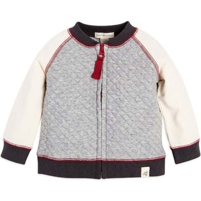 Quilted Zip Up Organic Baby Boysジャケット