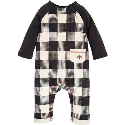 Buffalo Check Organic Baby Boysロンパース