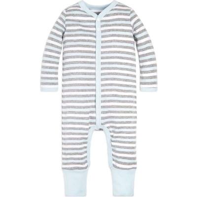 Baby Multi Stripe Snap Front Organicロンパース