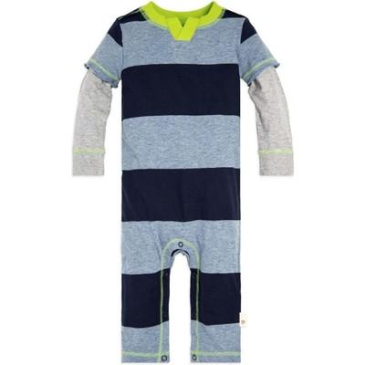 Baby Rugby Stripe 2Fer Organicロンパース