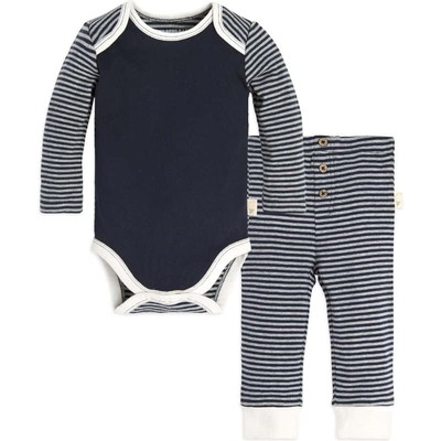 Stripe Organic Baby Cottonボディースーツ&パンツセット