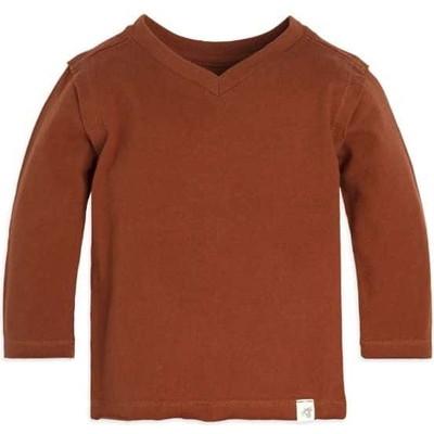 Solid High V Organic Baby BoysTシャツ