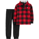carter's / カーターズ 2-Piece Buffalo Check Fleece Pullover & Jogger Set
