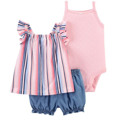 carter's / カーターズ 3-Piece Striped Little Short セット