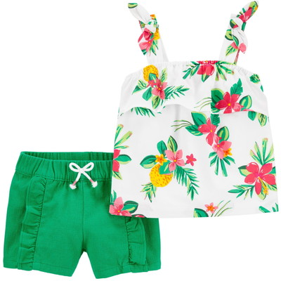 carter's / カーターズ 2-Piece Floral タンク & Ruffle Short セット