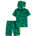 carter's / カーターズ 2-Piece Dinosaur Hooded Poly パジャマ