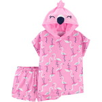 carter's / カーターズ 2-Piece Flamingo Hooded Poly パジャマ
