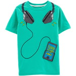 carter's / カーターズ interactive music player snow yarn tシャツ / ターコイズ