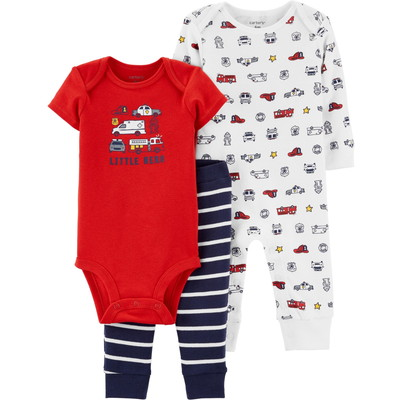 carter's / カーターズ 3-Piece Firetruck Jumpsuit & Bodysuit Set