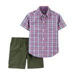 carter's / カーターズ 2-Piece Plaid Button-Front & Short セット