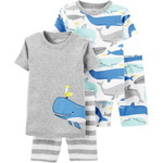 carter's / カーターズ 4-Piece Whales 100% Snug Fit Cotton パジャマ