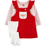 carter's / カーターズ 3-Piece Striped Tee & Santa Jumper セット