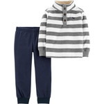 carter's / カーターズ 2-Piece Striped Fleece Pullover & Jogger Set