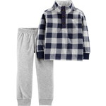 carter's / カーターズ 2-Piece Plaid Fleece Pullover & Jogger Set
