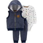 carter's / カーターズ 3-Piece Bear Little Vest Set