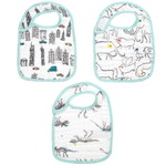 aden+anais White Cotton Bibs (pack Of 3)