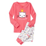 GYMBOREE キャットルール2ピースパジャマ ピローピンク