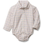 Janie and Jack/ジャニーアンドジャック Baby Plaid Poplin Bodysuit