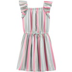 OSHKOSH / オシュコシュ Rainbow Stripe Ruffle Dress