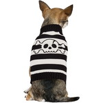 ハロウィンSPECIAL Striped Skull Dog Sweater