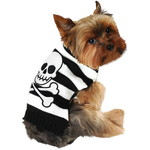 ハロウィンSPECIAL Striped Skull-and-Crossbones Dog Sweater