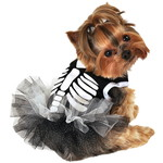 ハロウィンSPECIAL Heart Skeleton Dog Tutu Dress