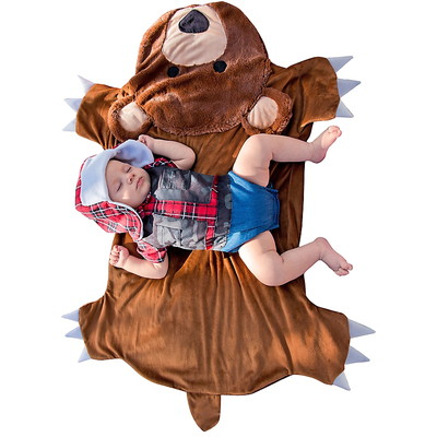 Baby Hunter Costume with Bear Swaddle Blanket