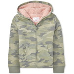 THE CHILDREN'S PLACE/チルドレンズプレイス Camo Sherpa French Terry Zip Up フーディー