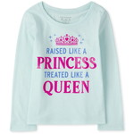 THE CHILDREN'S PLACE/チルドレンズプレイス Princess Queen Graphic Tシャツ