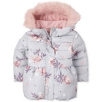 THE CHILDREN'S PLACE/チルドレンズプレイス Floral Bubble Puffer ジャケット