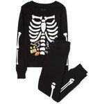 THE CHILDREN'S PLACE/チルドレンズプレイス Unisex Kids Matching Family Halloween Glow Candy Skeleton Snug Fit Cotton パジャマ