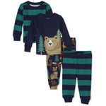 THE CHILDREN'S PLACE/チルドレンズプレイス Forest Snug Fit Cotton 4-Piece パジャマ