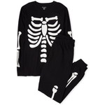 THE CHILDREN'S PLACE/チルドレンズプレイス Unisex Adult Matching Family Halloween Glow Candy Skeleton Snug Fit Cotton パジャマ