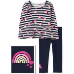 THE CHILDREN'S PLACE/チルドレンズプレイス Rainbow Striped Outfit セット