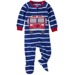 THE CHILDREN'S PLACE/チルドレンズプレイス Fire Truck Striped Fleece One Piece パジャマ