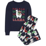 THE CHILDREN'S PLACE/チルドレンズプレイス Matching Family Festive Llama Snug Fit Cotton And Fleece パジャマ