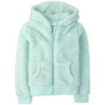 THE CHILDREN'S PLACE/チルドレンズプレイス Sparkle Faux Fur Zip Up フーディー