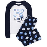 THE CHILDREN'S PLACE/チルドレンズプレイス Matching Family Hanukkah Festival Snug Fit Cotton And Fleece パジャマ
