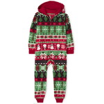THE CHILDREN'S PLACE/チルドレンズプレイス Matching Family Christmas Fairisle Fleece One Piece パジャマ