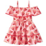 THE CHILDREN'S PLACE/チルドレンズプレイス Watermelon Ruffle Off Shoulder ドレス
